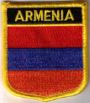 Armenia Embroidered Flag Patch, style 07.